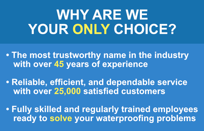 Why Are We Your Only Choice for Basement Waterproofing